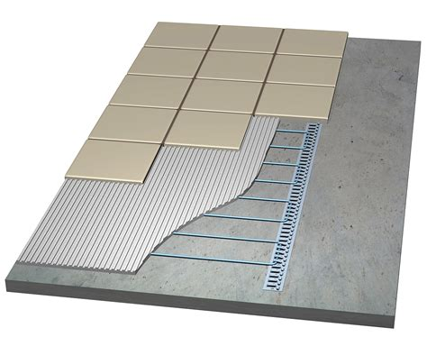 thermotile electric radiant floor tile heating system