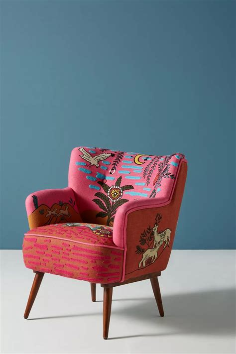 imagined world petite accent chair anthropologie