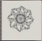Zentangle Patterns Printable Simple Adults Coloring Pages Bestcoloringpagesforkids sketch template