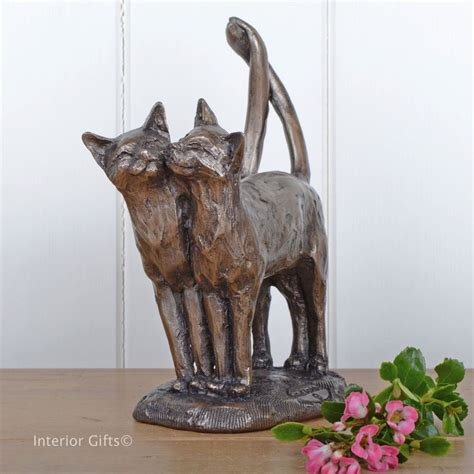 twos company frith cat  kitten sculpture   paul