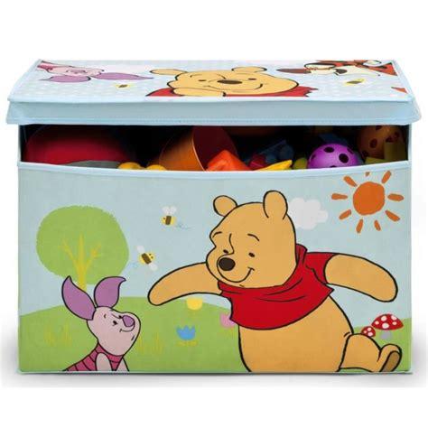 winnie l ourson coffre 224 jouets en bois non tiss 233 achat vente coffre 224 jouets wp coffre a