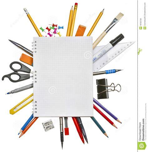 affaires de bureau cahier et fournitures de bureau image stock image du