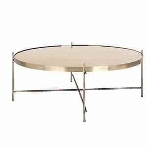 Table Basse Miroir : table basse miroir laiton 82 cm koya design ~ Melissatoandfro.com Idées de Décoration