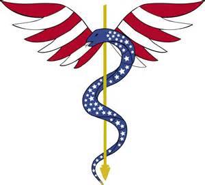 Caduceus Medical Symbol Snakes