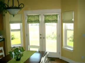 Roman Shade Window Treatments for French Doors