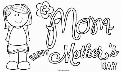 Coloring Mothers Pages Printable Mother Cards Happy
