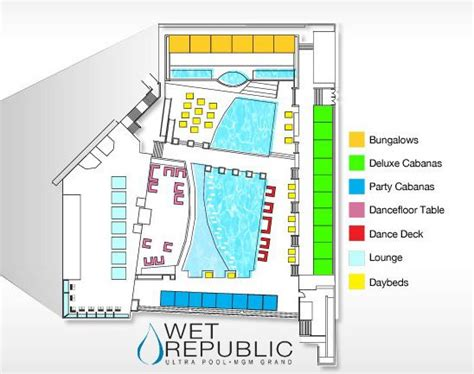 Mgm Grand Hotel Floor Plan by Republic Pool Floor Plan Map Republic Mgm Grand