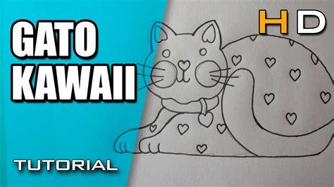 como dibujar un gato kawaii paso a paso dibujos kawaii c 243 mo dibujar un gato kawaii f 225 cil