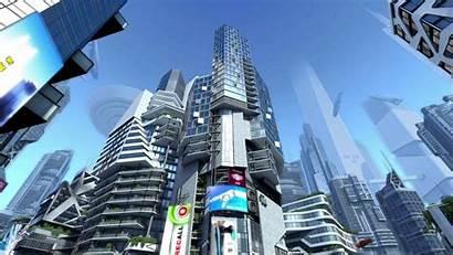 Futuristic 3d Screensaver Buildings