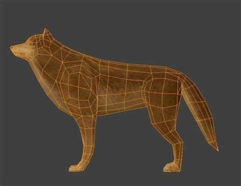 wolf rigged  game ready  model ds obj dae