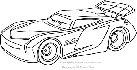 fogli colorati da stare disegno di jackson di cars da colorare avec jackson