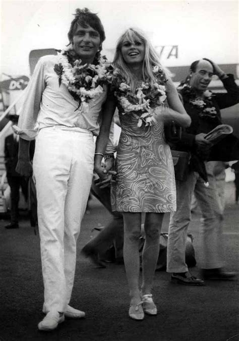 Brigitte Bardot And Husband Gunter Sachs Arriving In