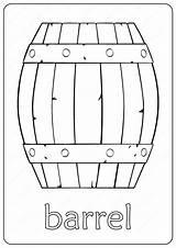 Barrel Outline Coloring Drawing Pdf Wooden Printable Coloringoo sketch template