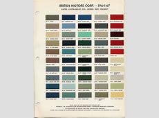 BMCBL Paint Codes and Colors HowTo Library The MG