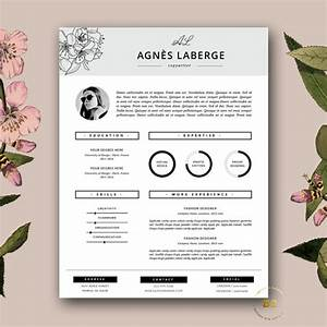 resume template feminine resume and free cover letter With feminine resume template
