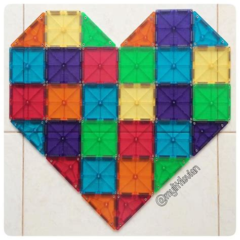 say it with heart magnatiles magna tiles 174 creations