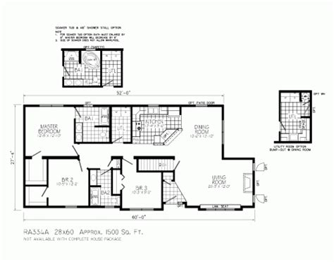 ranch floor plans with large kitchen ra334a castlewood by mannorwood homes ranch floorplan 9192