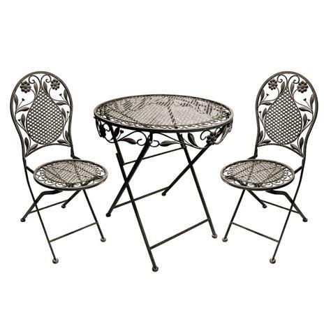Terrassen Stühle Und Tische by Terrassen Set Aus Eisen Bestehend Aus 1 Tisch Und 2