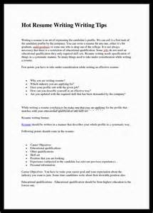 tips for writing a resume 2016 20 resume writing sles for freshers engineers document