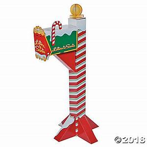 santas mailbox stand up With letters to santa mailbox for sale