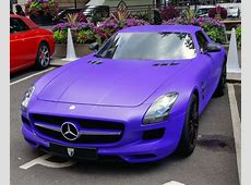MercedesBenz SLS AMG matte purple Only cars and cars