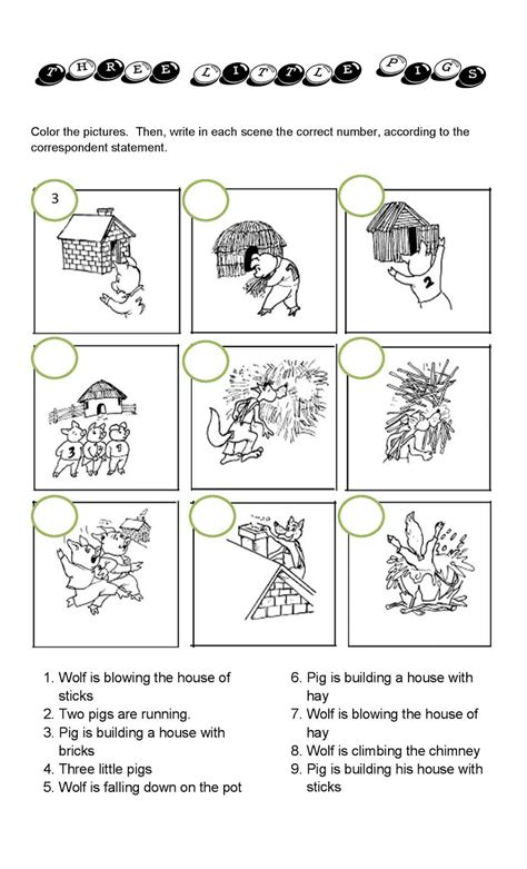 printable   pigs worksheets activity shelter