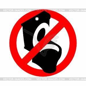 Hartnäckige Verschmutzung Toilette : stoppen toilette es ist verboten zu schei en durchgestrichen vektor clip art ~ Frokenaadalensverden.com Haus und Dekorationen