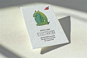 Hand painted business card elegante press for Business card illustrator