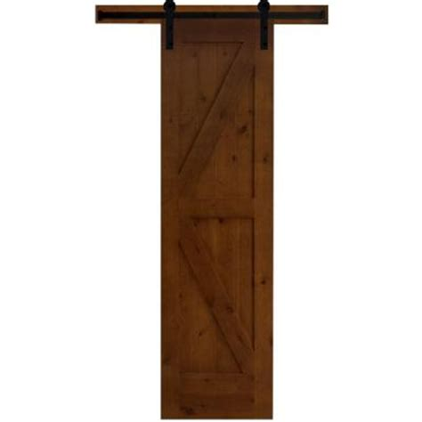 interior barn door hardware home depot steves sons 30 in x 84 in rustic 2 panel stained knotty alder interior barn door slab with