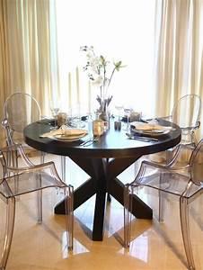 chaises transparentes salle manger accueil design et With salle À manger contemporaineavec chaises salle À manger transparentes