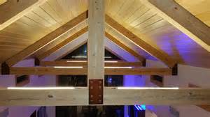 ultra warm white led strips light up the vaulted ceilings