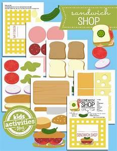 paper sandwich shop toys printables 4 mom With sandwich shop menu template