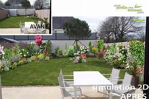 Aménager Son Jardin Logiciel Gratuit : comment am nager un petit jardin rectangulaire monjardin ~ Louise-bijoux.com Idées de Décoration