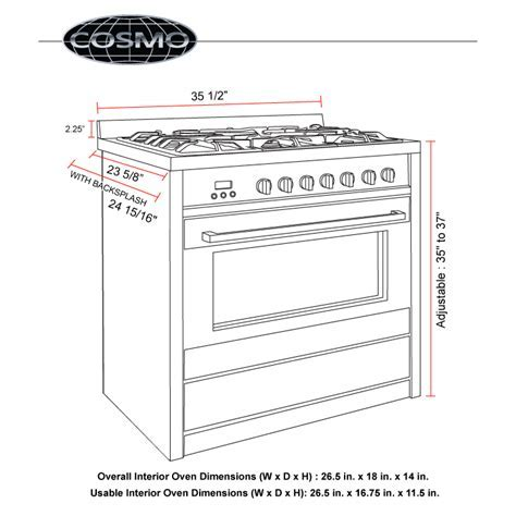 36 in. 3.8 cu. ft. Stainless Steel Convection Gas Range