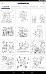 Sandbox Coloring Apps Play sketch template