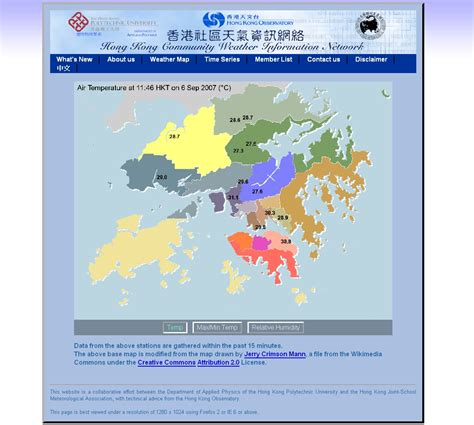 hong kong community weather information network