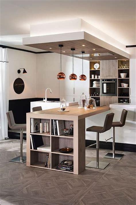 cuisine bois et blanc laqué cuisine ouverte sur salon 20 exemples inspirants côté