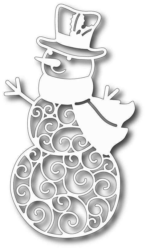 tutti designs cutting die jolly snowman