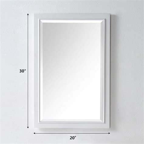 20 X 30 Bathroom Mirror by 20 X 30 In Bath Vanity D 233 Cor Mirror With White Frame Dk
