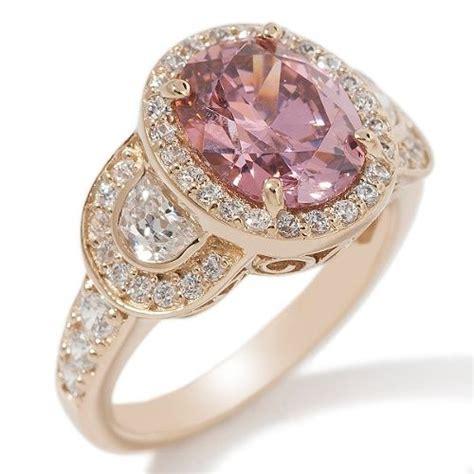 diamond center stone instead of pink stone bezel instead
