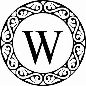 letter w monogram clip art at clkercom vector clip art With monogram letter w