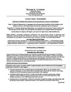 resume candidate for bachelor department manager resume exle resume writing exles pintere