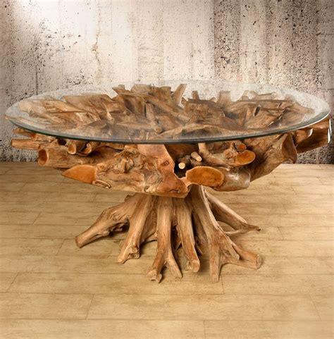 Tisch Aus Olivenholz by Wurzelholz Tisch 180x180 Rund Amazonas Esstisch Teak Holz