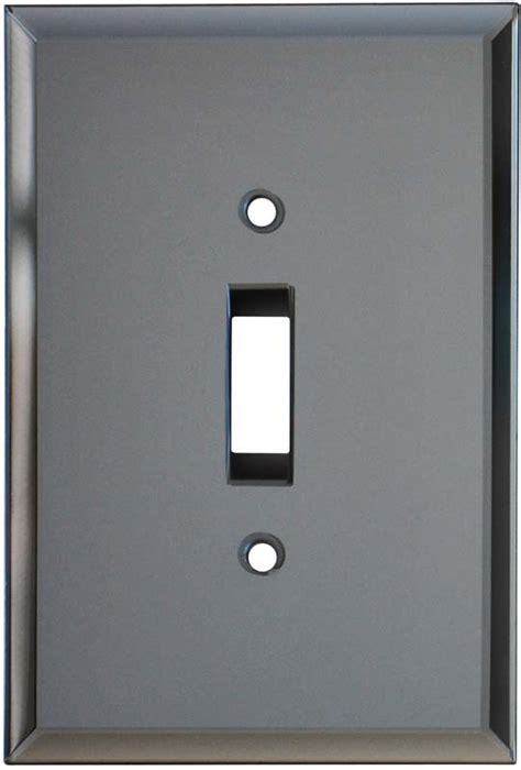 glass mirror switch plates grey tint outlet covers