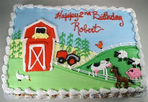 27 Farm Animals Themed Birthday Sheet Cake Design