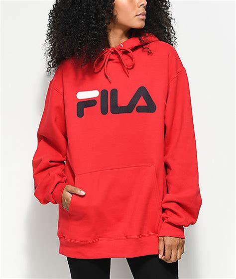 FILA Logo Red Hoodie | Zumiez