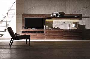 Meuble Tv Haut De Gamme Design : meuble tv design votre meuble design tv en noyer ou en ch ne ~ Teatrodelosmanantiales.com Idées de Décoration