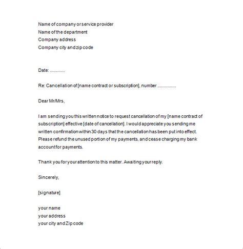 notice  termination template business