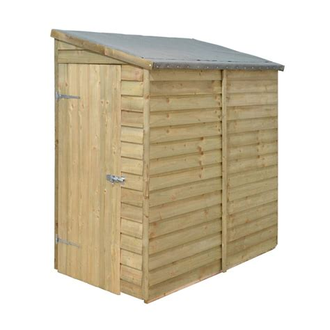 forest garden 6x3 overlap wall shed