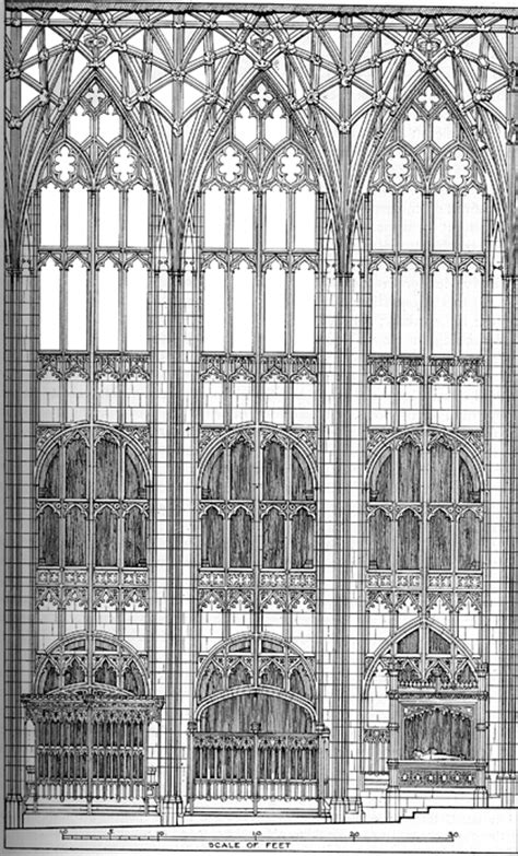 medieval gloucester cathedral plans  drawings